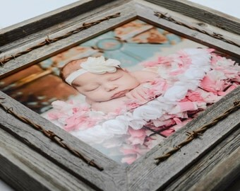 8x10 Rustic Barnwood Picture Frame - Cabin Decor-Home Decor-Rustic-Frames