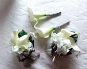 Reserved Calla lily boutonnieres and corsage