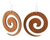 Swirl - Wood Earrings