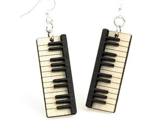 Piano Keys - Wood Earrings