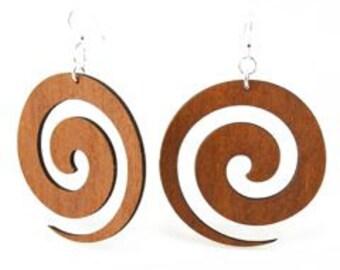 Swirl - Wood Earrings