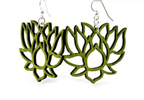Lotus Wood Earrings