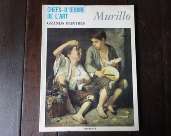 Vintage French Large Paperback Art Reference Magazines Painters Murillo Chefs-D'Oeuvre De L'Art Grand Peintres circa 1967 / English Shop