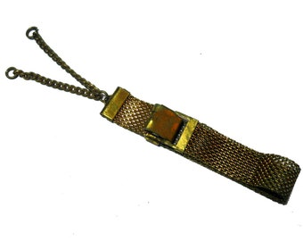 Gold Filled Pocket Watch Chain Belt Fob