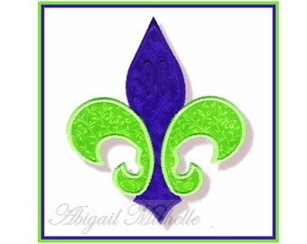 Fleur De Lis Banner Add On - 4 Sizes, Machine Embroidery