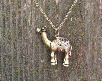 Gorgeous gold camel necklace