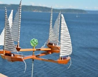2017 (6) Boat Racing Laminate Sails - Bi-Directional whirligig