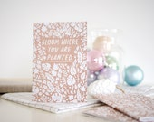 A6 Notebook Trio - 3 Leafy Designs - Plain Pages