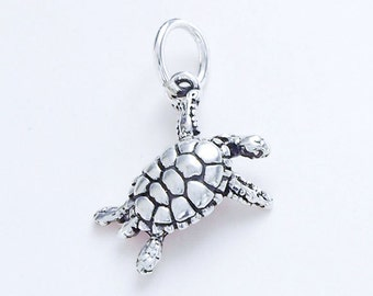1 of  925 Sterling Silver Turtle Pendant 7x15 mm.  :th2416