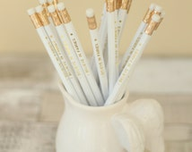 I Believe in Fairies Pencil, White and Gold Foil Pencil, Fairy Pencil, Fairy Stationery,