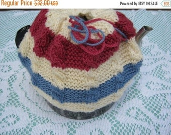ON SALE Hand Knitted Tea Cosy