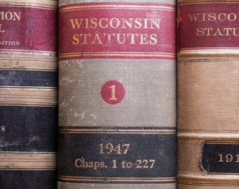 Vintage Enormous Law Book - Wisconsin Statutes 1947