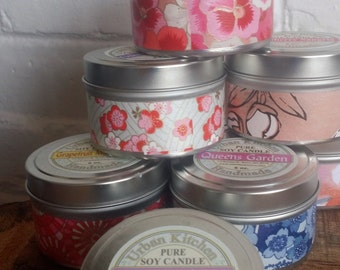 Queen's Garden Pure  Soy Candle  6 oz., Candle, Soy Candle, Candle Tin