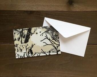 ptarmigan greeting card