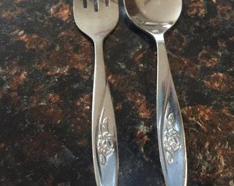 Vintage Infant Feeding Utensils - Fork And Spoon