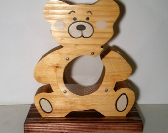 Teddy Bear Money Bank. This bank is  currently available for immediate shipping.
