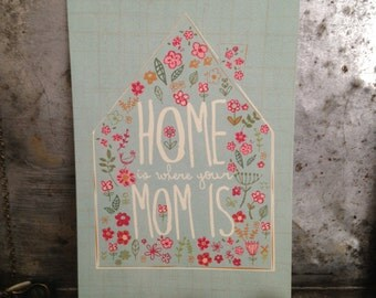 Mother's Day Greeting Card - Home is Where Your Mom Is