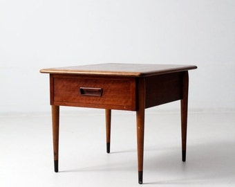 SALE mid-century Lane Acclaim commode table, end table with drawer