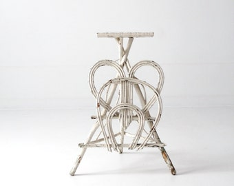 antique twig table, folk art bentwood side table