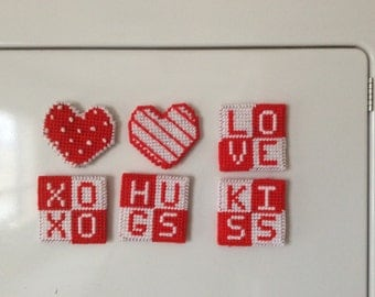 Valentines  Day Magnets Set of 6