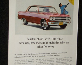 Front/Back Ads, 1965 Chevelle, 1965 Corvair