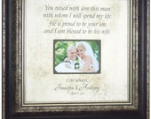 Personalized Wedding Gift, Mother of the Groom Gift,  Parents Wedding Gift, You Raised With Love, 16 X 16
