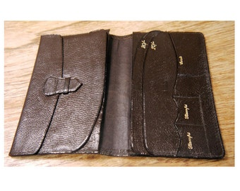Vintage Dark Brown Leather Wallet c.1960s