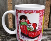 Crazy Cat Lady Leanin Tree Mug by Leslie Murray I do all my important stuff,