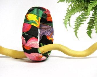 Tropical recycled bracelet - bangle