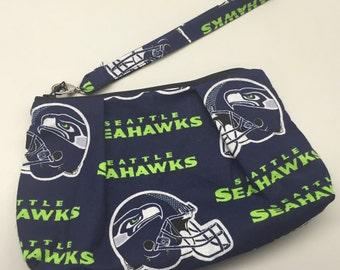 Seattle Seahawks Double Pleated Wristlet