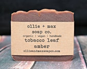 Tobacco Leaf Amber Soap, Natural Soap, Vegan Soap, Organic Soap