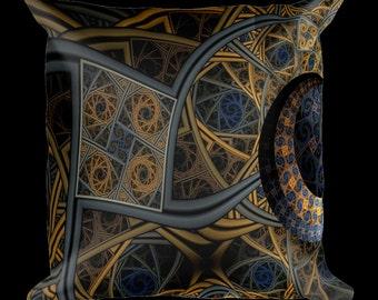 Fractal Dimensions Designer Throw Pillow