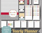 2016 Yearly Planner Printable Bundle (25 pages) PDF Printable Files - Instant Digital Download