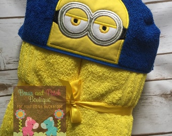 Minion Hooded Towel (Ready to Ship)