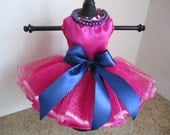 Dog Dress XS Hot Pink  with pearls  by Nina's Couture Closet