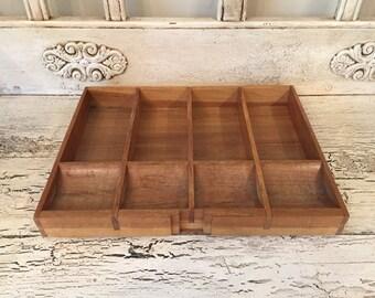Vintage Wooden Cash Register Drawer  - Wooden Register Till  - Storage and Organization