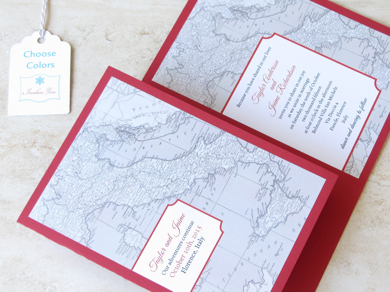 Italy Wedding Invitation Booklet Florence Tuscany