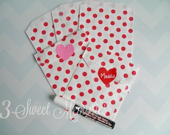 Valentine Treat Bags & Chalk Labels { Set of 12-30 }