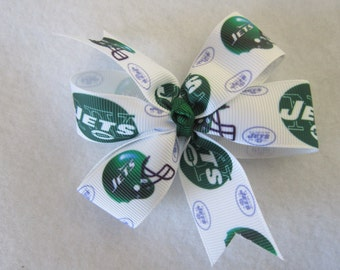 New York Jets hair bow