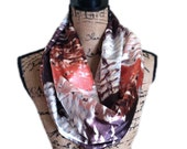 """MADE TO ORDER  70"""" pocket travel scarves infinity scarf with hidden pockets, Pocket scarves loop scarves custom scarves"""