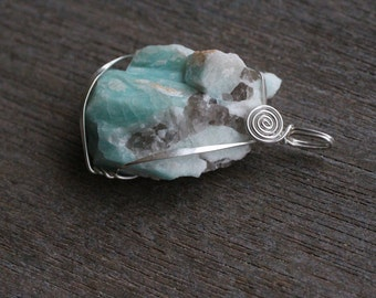 Amazonite Sterling Silver Pendant  #5265