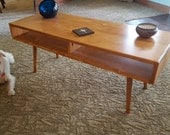 IN STOCK! Mid Century Coffee Table Solid Wood 42""