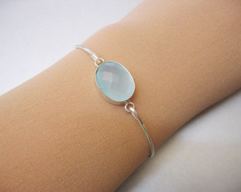 SEAFOAM AGATE bangle bracelet