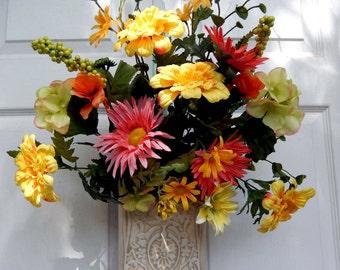 SUMMER SALE , Summer Wreath , Summer Door Wreath , Wreath , Wreath Alternative , Wreath For The Door , Outdoor Wreath
