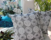 Modern Pillow - Silver Pillow - Textured Swirl Designer Pillow - Pewter Pillow - Reversible 20 x 20 Inch - Holiday Decor  Christmas Decor