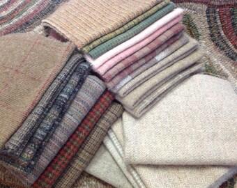 WOOL PACK for Primitive Rug Hooking and Applique, WP203, Folk Art Rug Designs, Westie Dog Wool Pack, Primitive Wool Colors