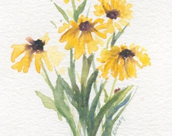 Black Eyed Susan's and a Lady