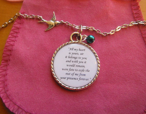 Jane Eyre Marriage Proposal Answer All My Heart Quote A Pendant Necklace