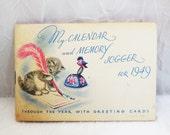 Vintage Rust Craft Cards Pocket Calendar and Memory Jogger for 1949