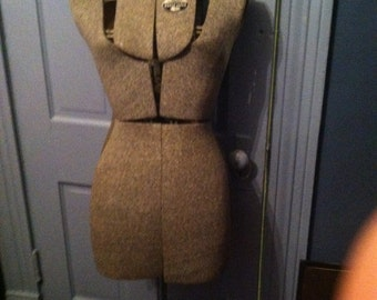 Vintage antique ACME dress form size adjustable manniquin made in brooklyn ny